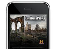History Channel app on the iPhone