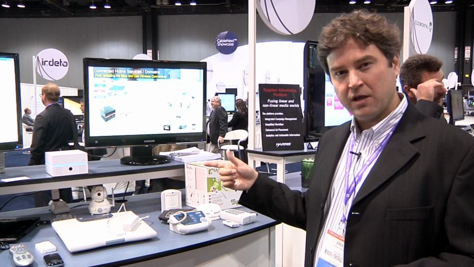 Amdocs regional sales director David Cardell demonstrates a connected-home platform