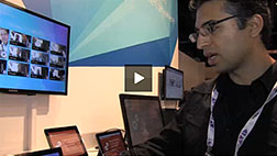 Microsoft technology product manager Eddy Malik shows cloud video processing capabilities...